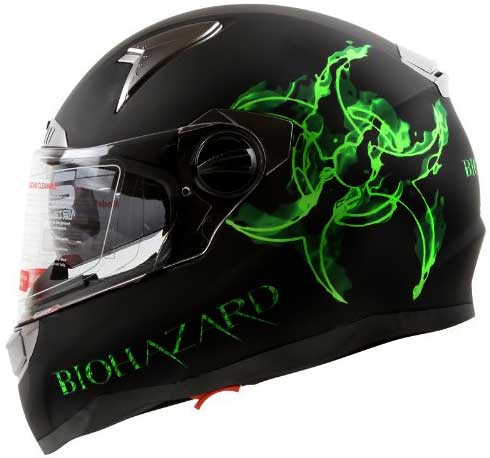 Bio-hazard Full Face Motorcycle Helmet
