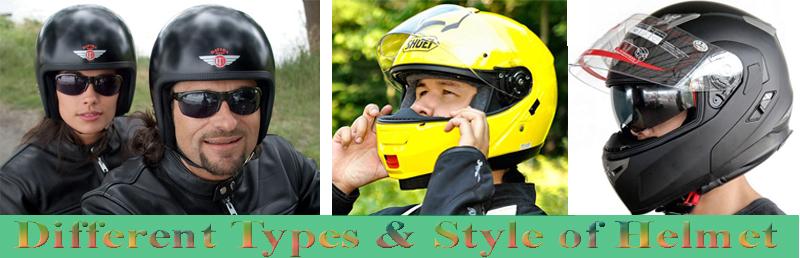 motorcycle helmet types & Style