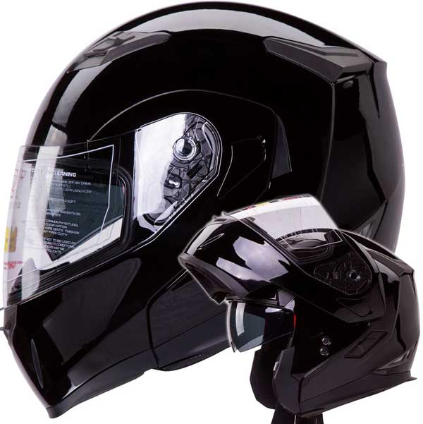 Dual Visor Modular Flip up Motorcycle Helmet