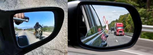 helmet safety tips rear view mirror