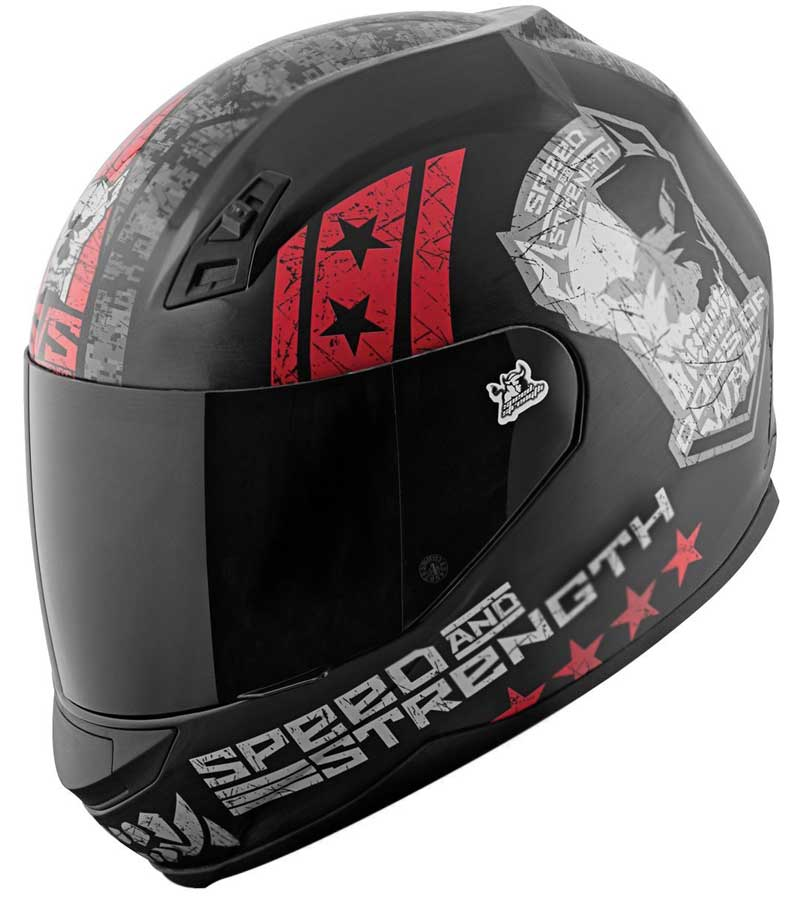 speed strength dogs full face motorcycle helmet