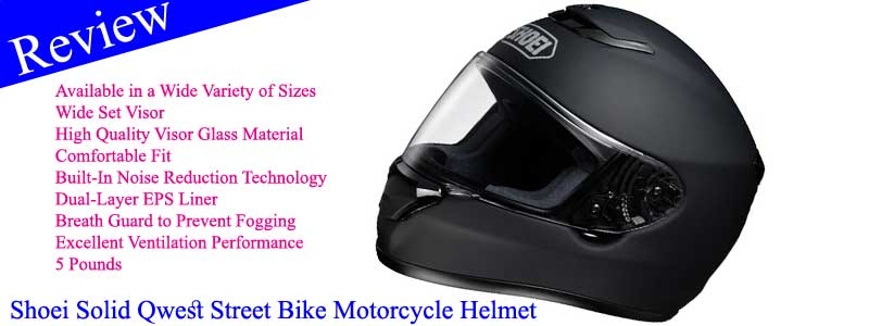 Shoei Solid Qwest Street Bike Motorcycle Helmet Review
