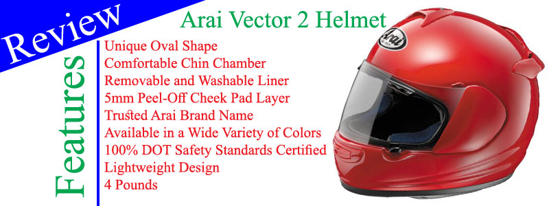 Arai Vector 2 Solid Motorcycle Helmet