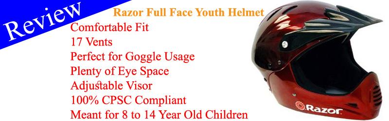 Razor Full Face Youth Helmet Review