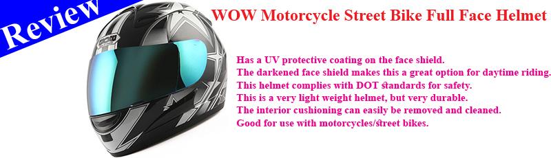 WOW Motorcycle Street Bike Full Face Helmet Racing Star